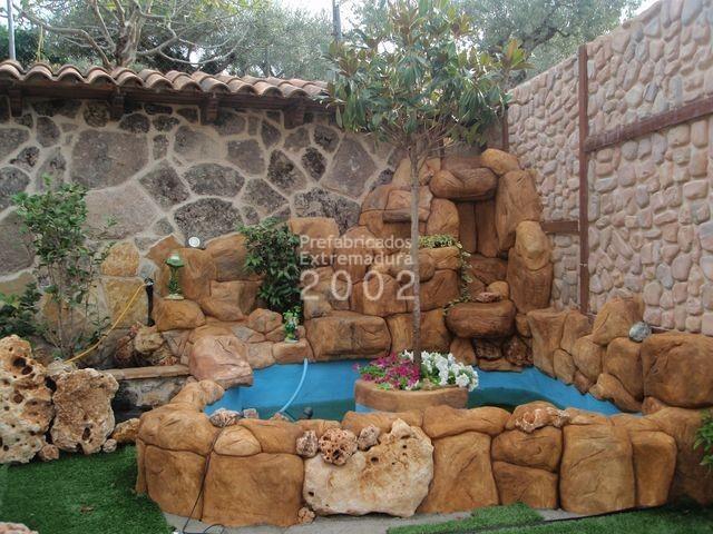 Prefabricados extremadura 2002 obras realizadas - Fuentes de jardin rusticas ...