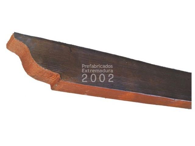 Prefabricados extremadura 2002 productos p rgolas viguetas correas imitaci n madera - Vigas de madera redondas ...