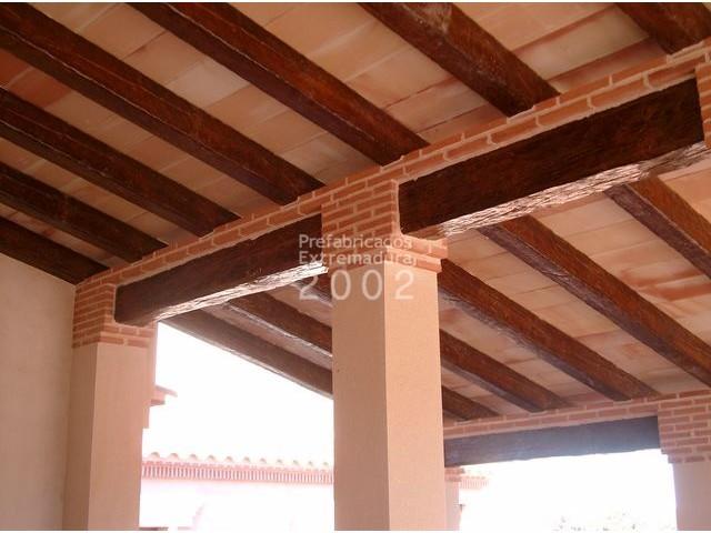 Vigas hormigon imitacion madera precio materiales de - Vigas falsas de madera ...