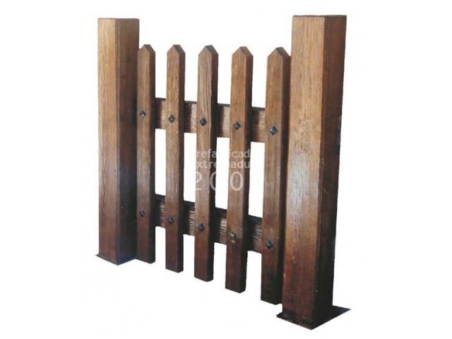 valla imitacin madera